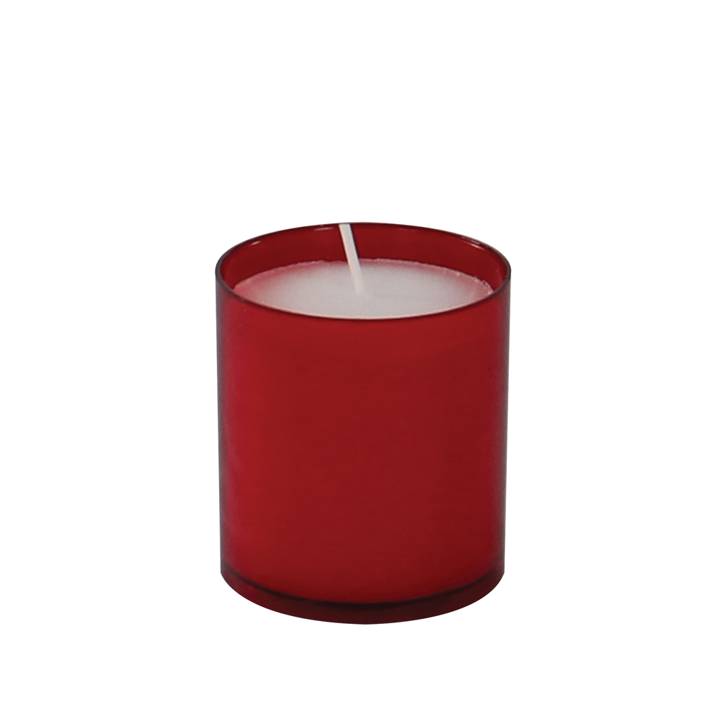 24 hour premium votive lights - red