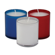 24 hour premium votive lights - blue clear and red
