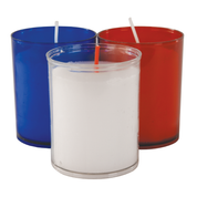 24 hour slimline votive lights - blue clear and red