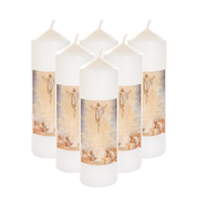 ascension seasonal transfer white cathedral candles
