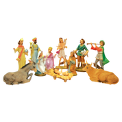 resin nativity crib set statues