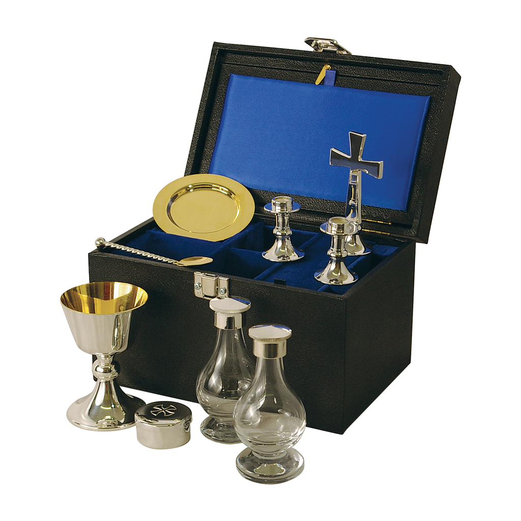6 piece communion set - silver plate and solid silver - large