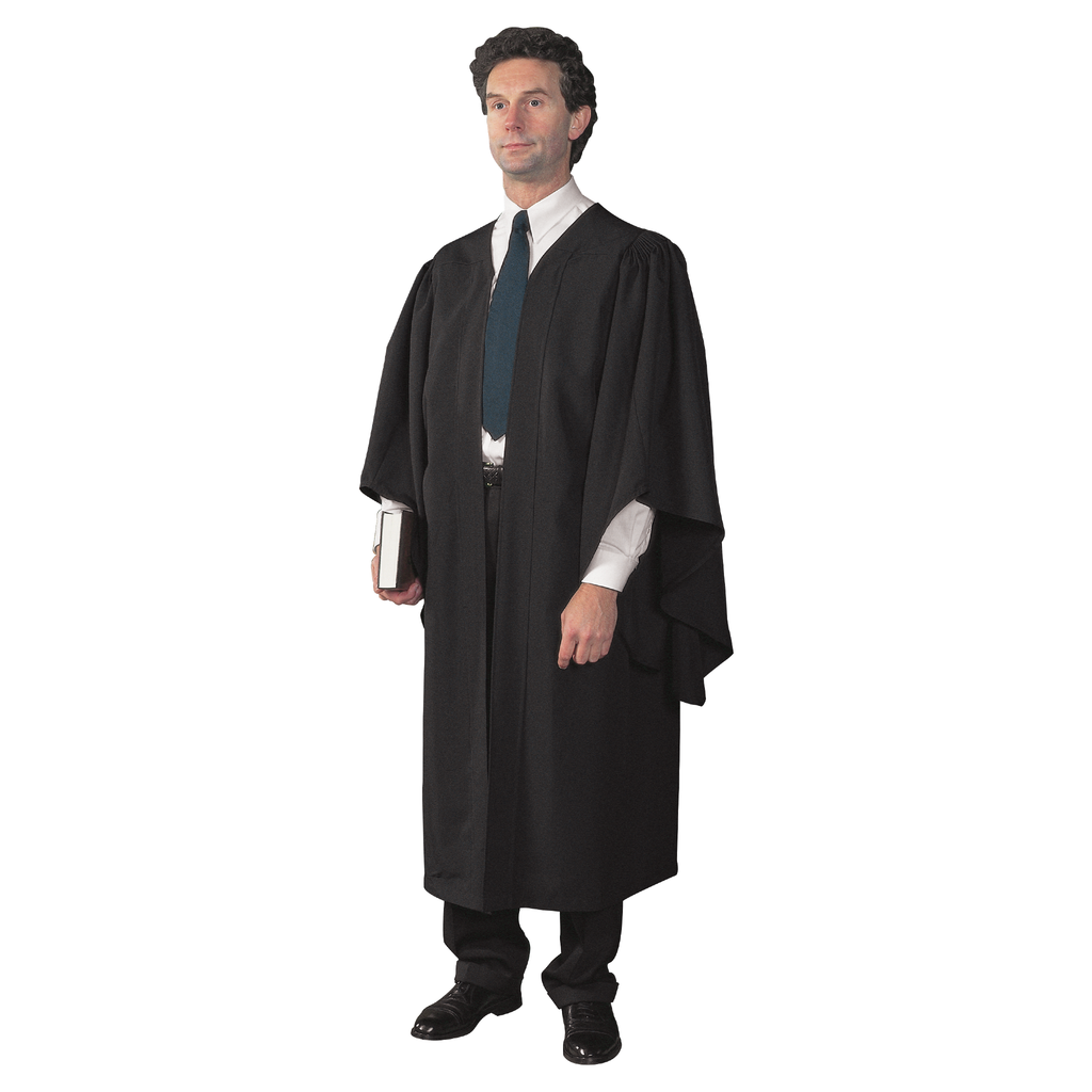 academic gown - black