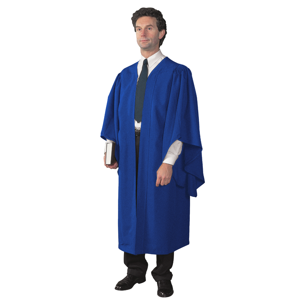 academic gown - blue