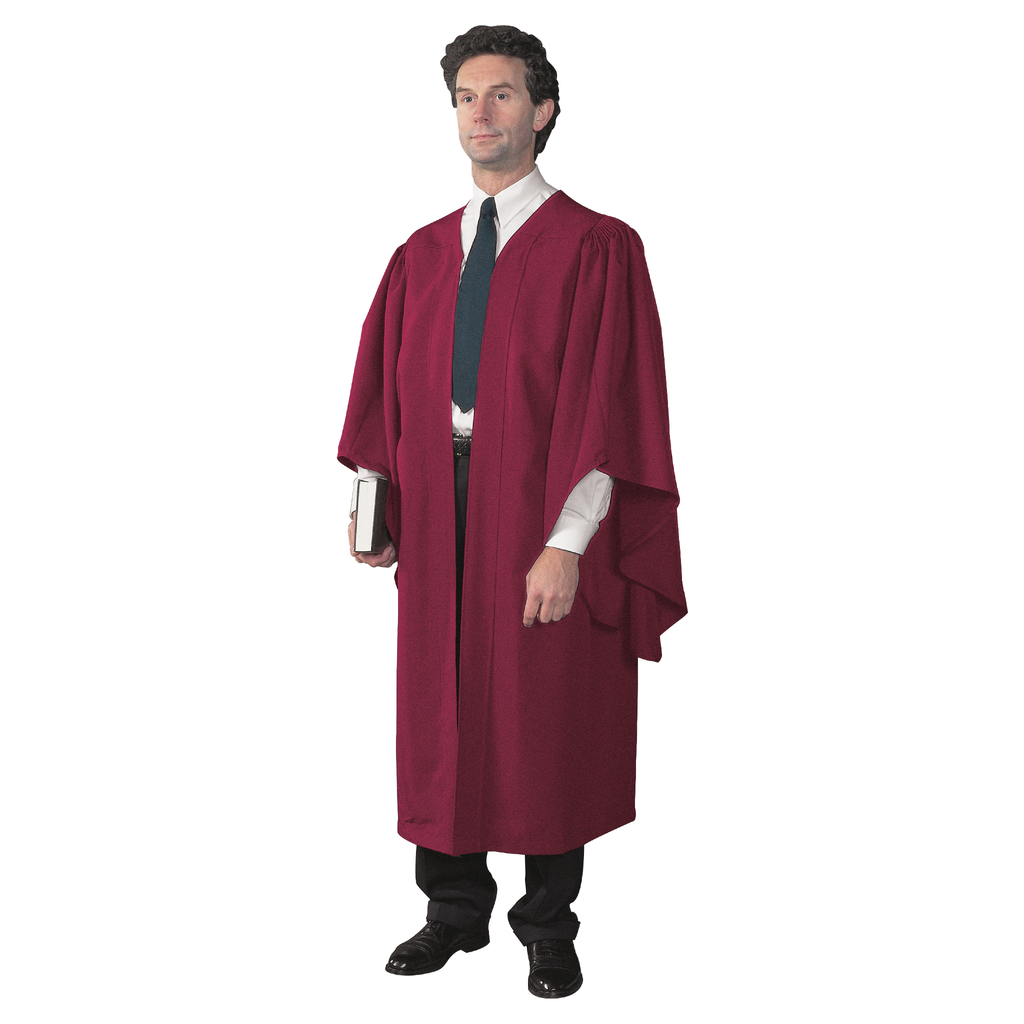 academic gown - burgundy