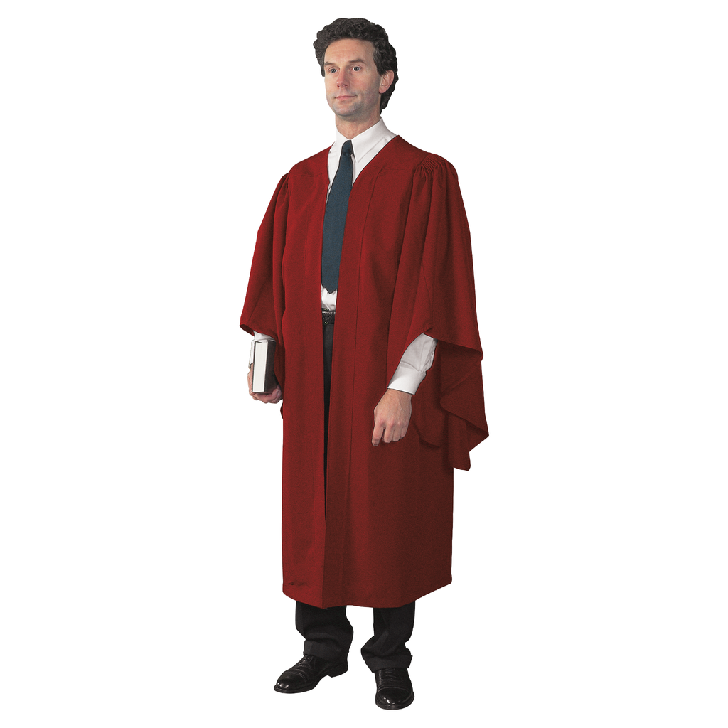 academic gown - red