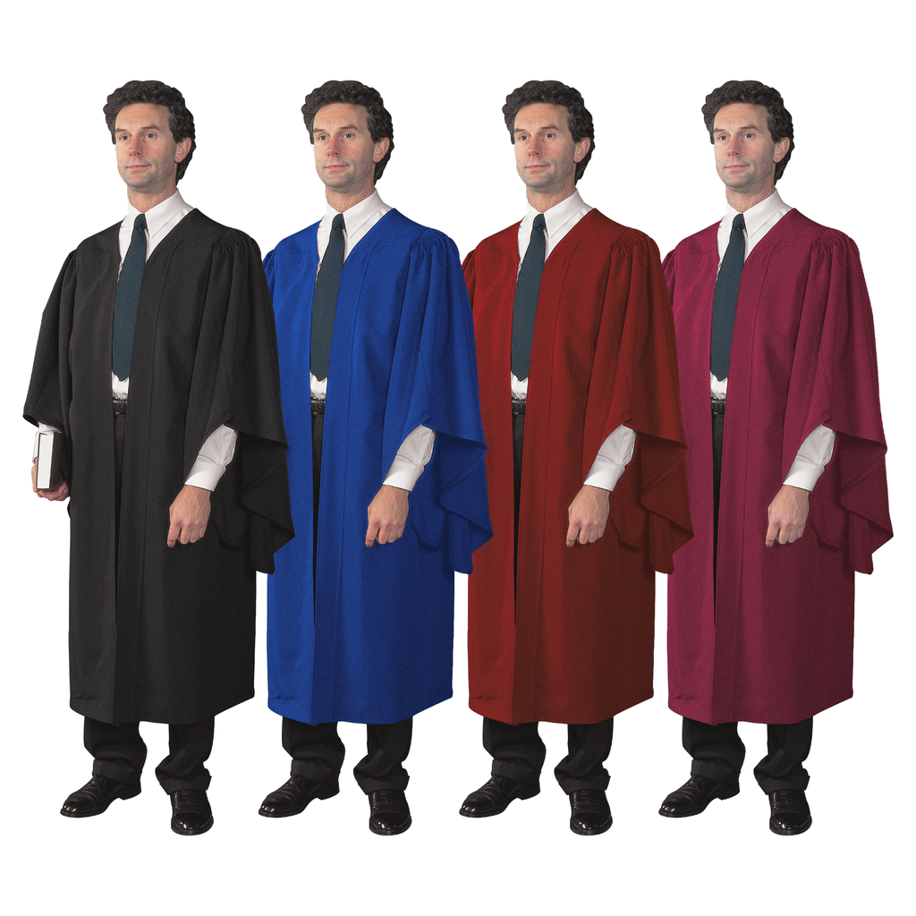 academic gown - black blue red and burgundy