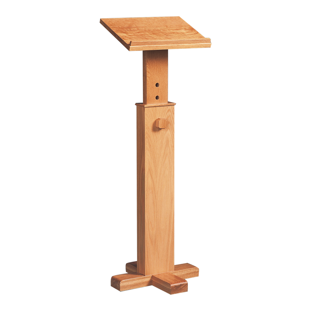 adjustable lectern with book rest