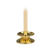 angular polished brass candlestick
