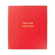 baptism register - front cover