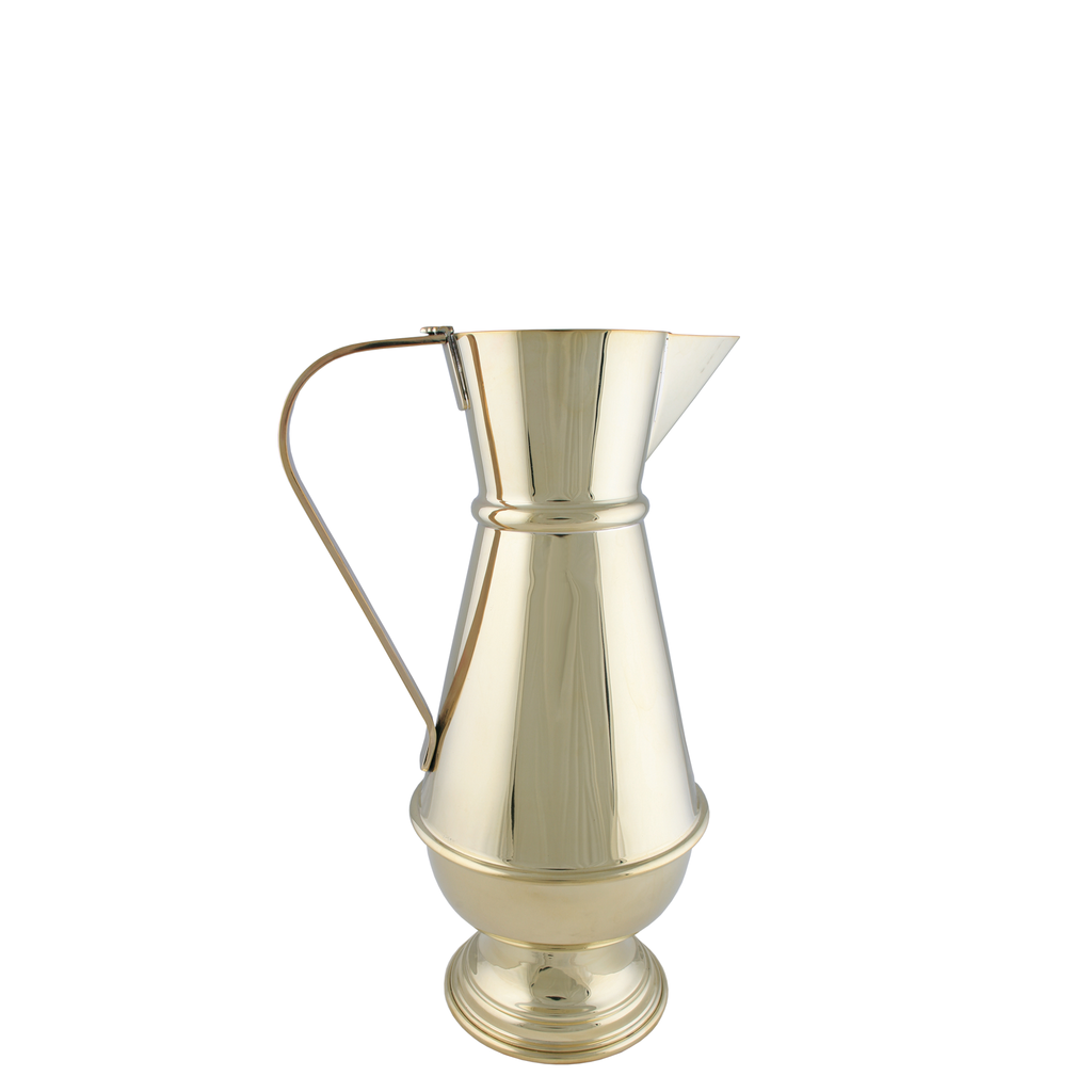 baptismal polished brass jug - 4 pints