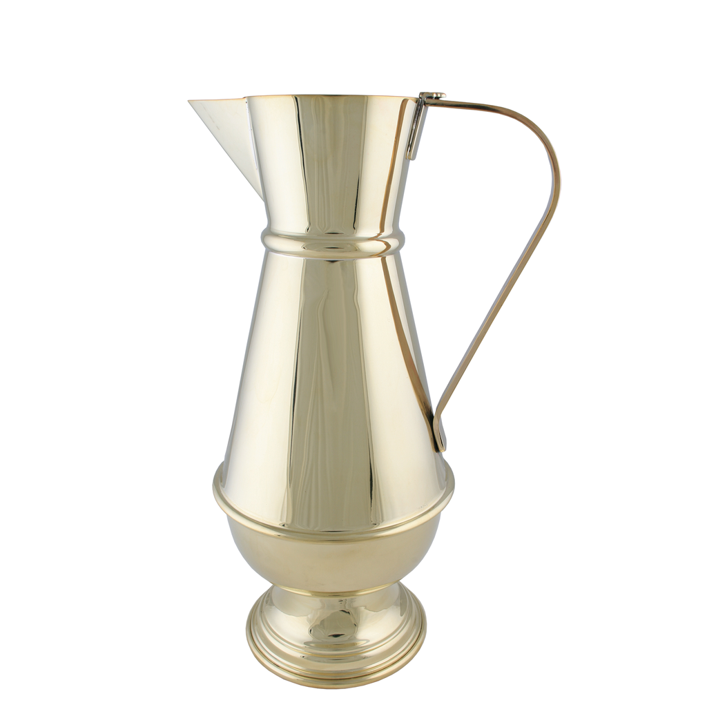 baptismal polished brass jug - 8 pints