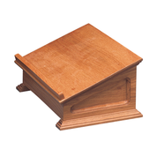 bevelled oak table lectern