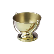 bowl style polished brass holy water vat with handle