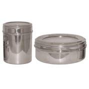 bread box stainless steel container - short and tall