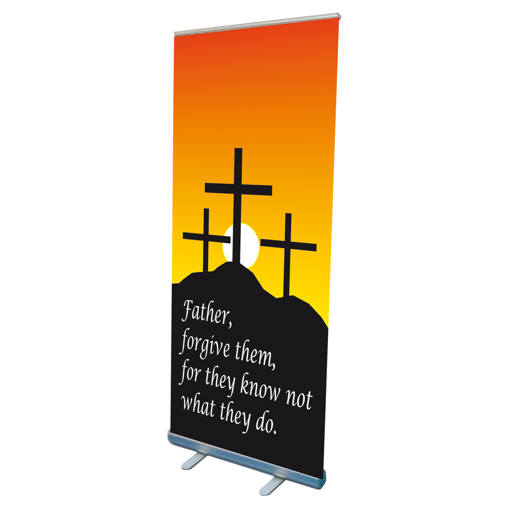calvary easter design pop up banner