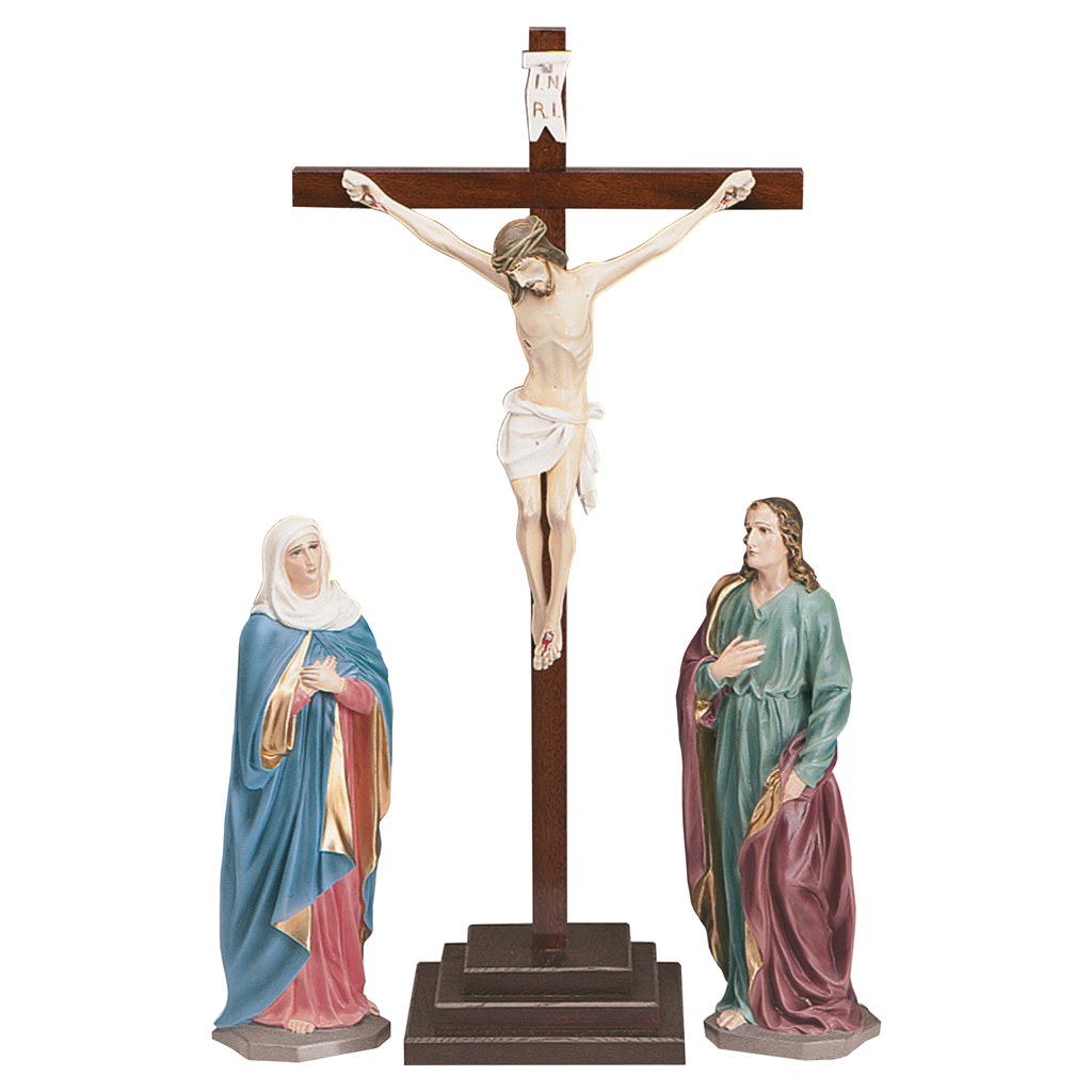 calvary fibreglass traditional colours easter set