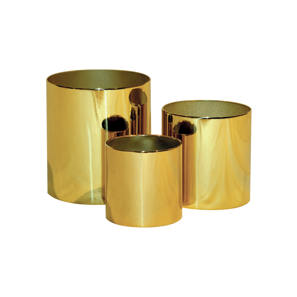 candle polished brass sockets