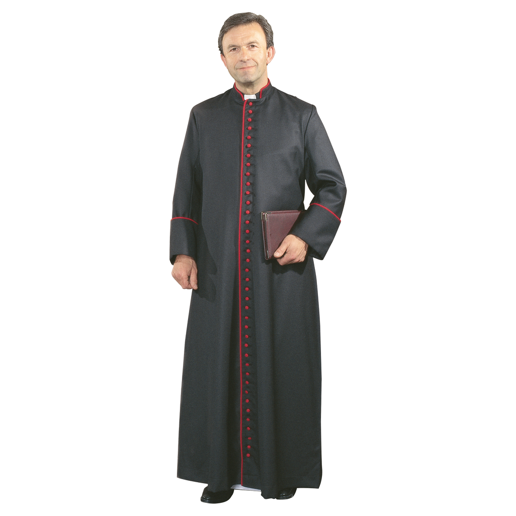 canon cassock with piping detail
