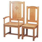 celtic cross oak minister chair with elder chair
