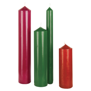 christmas candles - burgundy green red