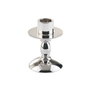 communion set candlestick - silver plate and solid silver