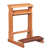 confessional prie dieu oak kneeler with book shelf