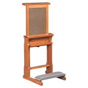 confessional prie dieu oak kneeler with lift up mesh screen