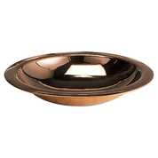 copper baptismal bowl with flat edge rim