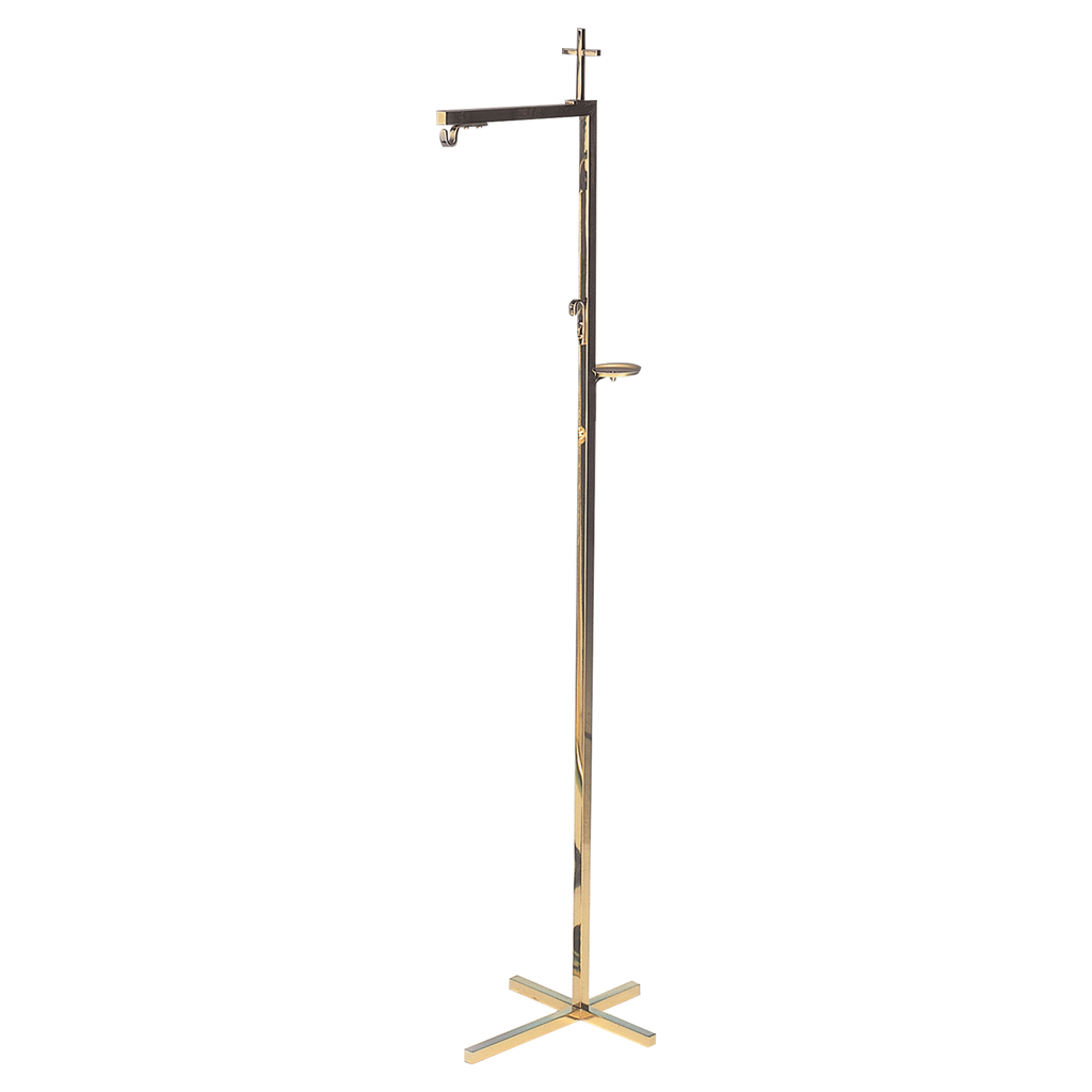 cross top thurible stand - brass