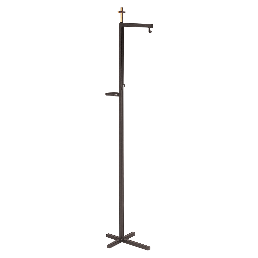 cross top thurible stand - wrought iron