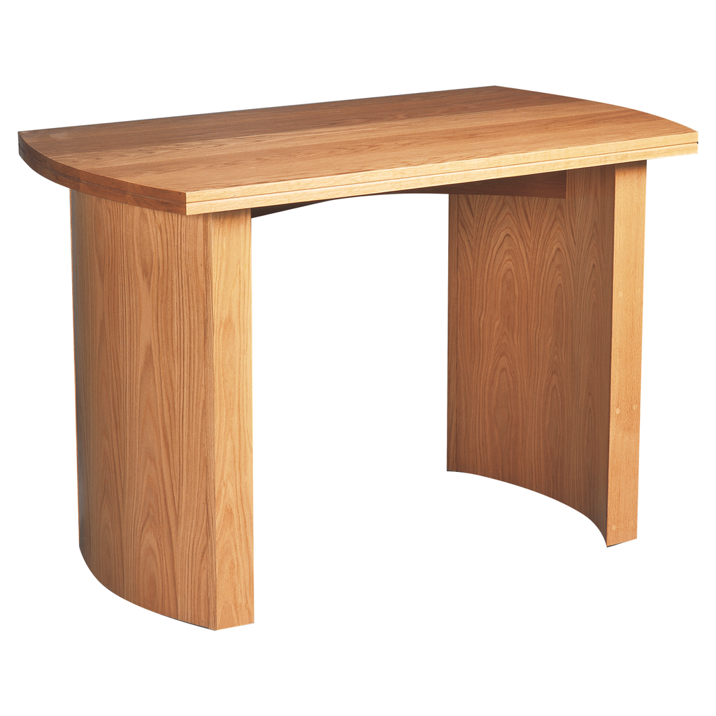 curved gables oak altar table