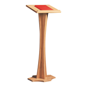 curved stem oak lectern