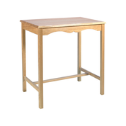decorative oak credence table