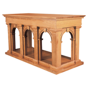decorative carved detail oak table