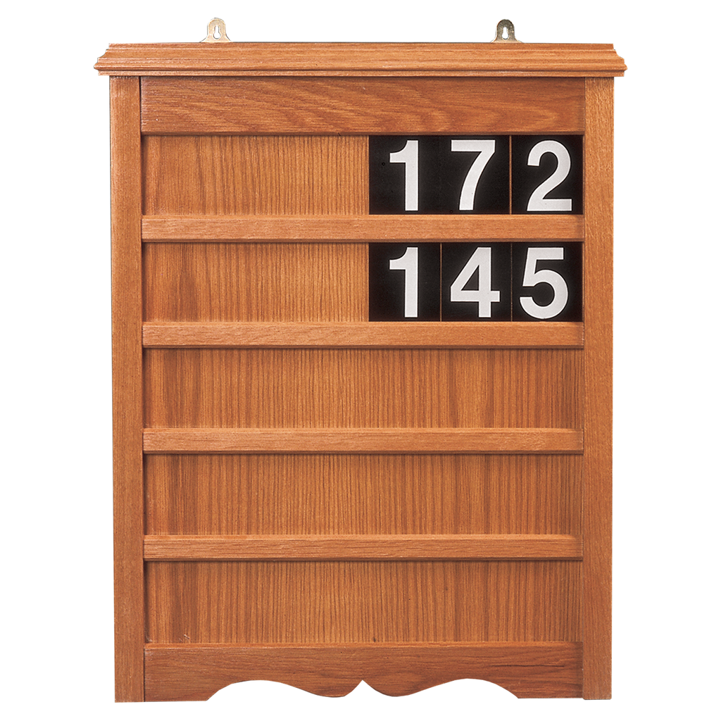 decorative five row oak hymn praise board