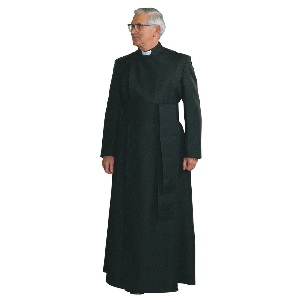 double breasted half lined cassock