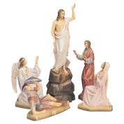 Easter fibreglass traditional colours statue set - 5 figures