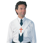 eucharistic cross white sash