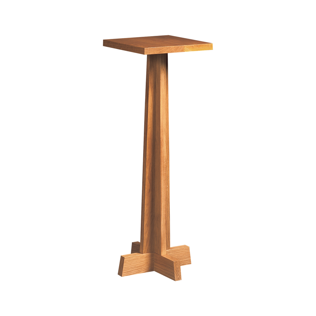 flower oak pedestal - straight stem