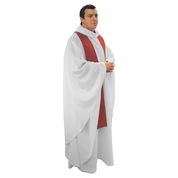 full cut white chasuble alb with wide sleeves