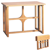 gate leg design folding oak altar table - open and folded view