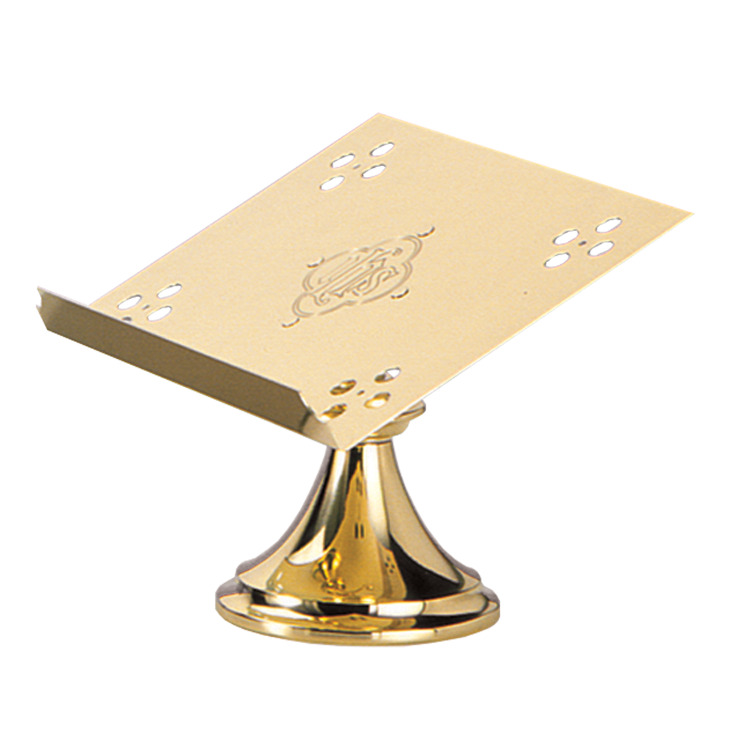 ihs polished and satin brass missal stand