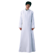 ladies double breasted cassock alb - white and cream