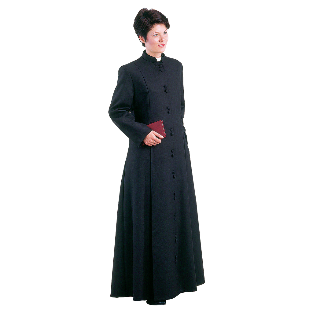 ladies single breasted half lined cassock
