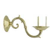 large scroll arm polished brass bracket lamp