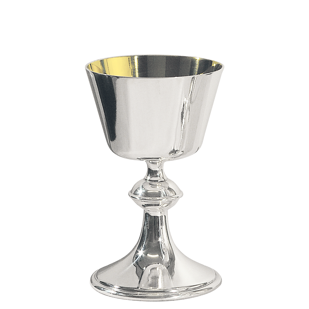 lincoln silver plate chalice with gilt bowl