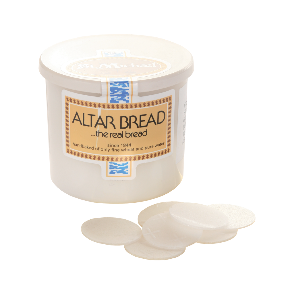 low gluten round altar bread wafers in tub of 50