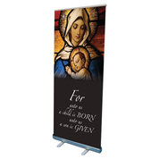 madonna and child christmas design pop up banner