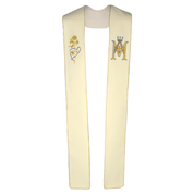 marian embroidery cream stole